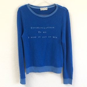 Wildfox I Made It Out Of Bed Jumper Pullover Sz XS